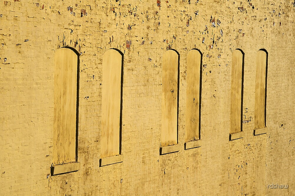 Boarded Up Yellow Windows by rdshaw