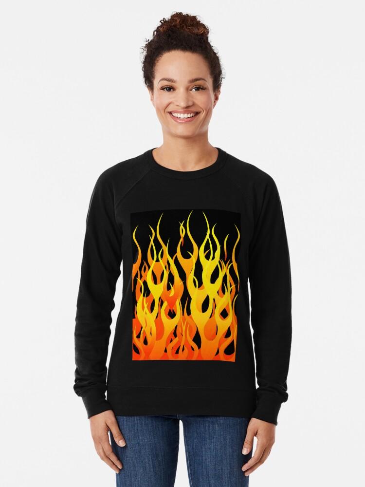 Alternate view of Racing Flames Lightweight Sweatshirt