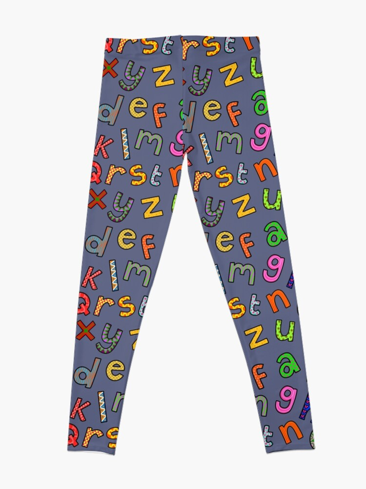 Alternate view of Hand Drawn Letters of the Alphabet Leggings