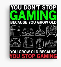 Gaming Life Funny Hilarious Game T-shirt Canvas Print