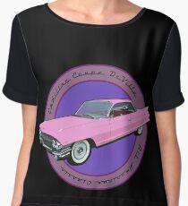 Pink Cadillac - Classic American Retro Car  Chiffon Top