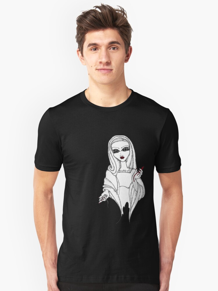 Our Lady of the Bleeding Thighs. Unisex T-Shirt Front
