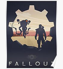 Fallout Vault Lone Wanderer Retro Poster  Poster