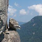 """Devil's Head"" at Chimney Rock by Anna Lisa Yoder"