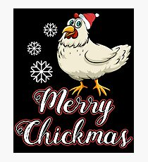 Merry Chickmas  Christmas  Chickenmas Shicker  Countryside  Southern Chicken  She's Beauty & Grace-01 T-Shirt Sweater Hoodie Iphone Samsung Phone Case Coffee Mug Tablet Case Gift Photographic Print