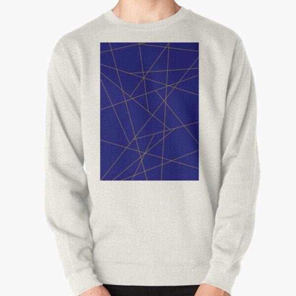Blue and Gold Geometric  Pullover Sweatshirt