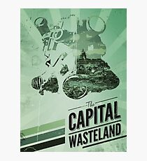 Fallout 3 Capital Wasteland Retro Poster  Photographic Print
