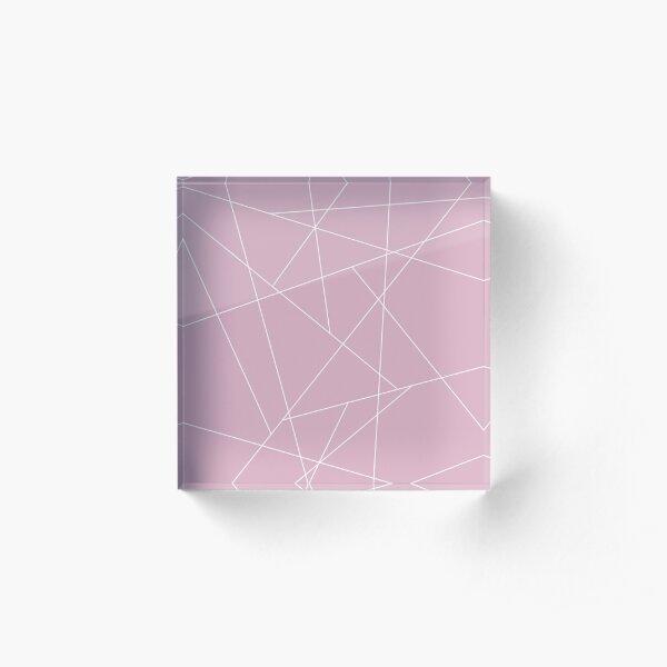 Pink and White Geometric Acrylic Block