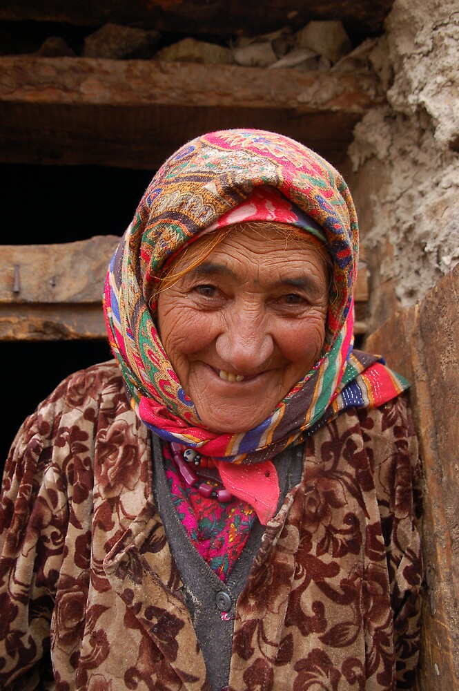 Face with a history, Tajikistan by Peter Gostelow