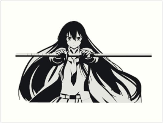 Akame Manga Art Prints By Liwi Redbubble