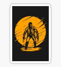 Logan Yellow art Sticker