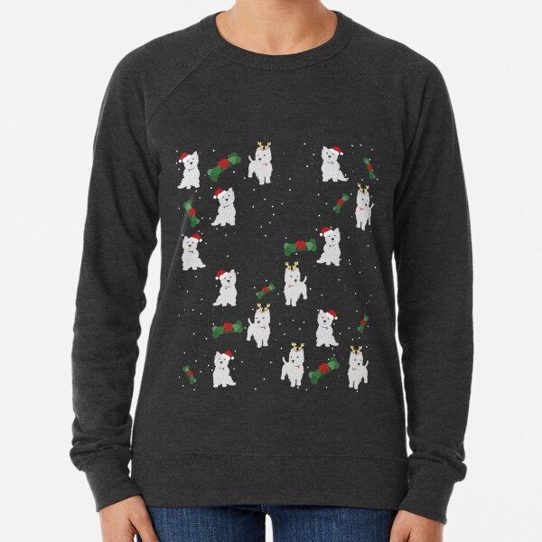 A Very Westie Christmas, Xmas Dog Print Lightweight Sweatshirt