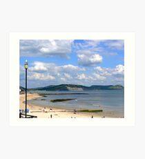 The Beach. Lyme Regis. UK Art Print