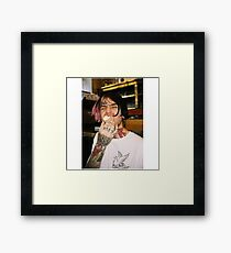 Lil Peep Photography - RIP Framed Print