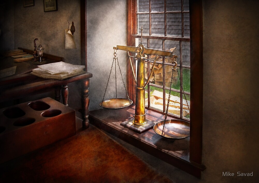 Lawyer - Scales of Justice by Michael Savad