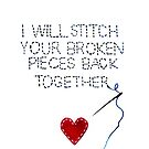 Broken Pieces Greeting Card by Arterized