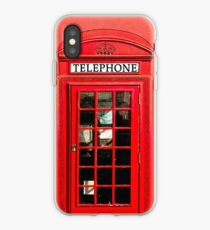 Red London Phone Box iPhone Case