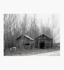 Abandoned Graineries on the Prairies  Photographic Print