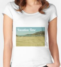 Vacation time beach  Women's Fitted Scoop T-Shirt