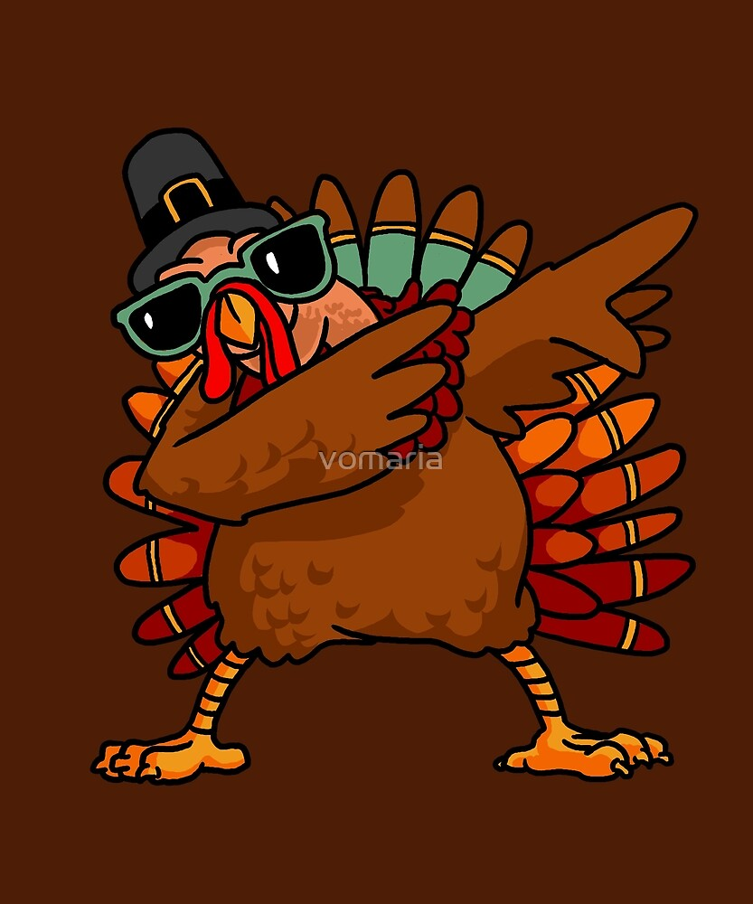 Dabbing Turkey Shirt Funny Thanksgiving Turkey Costume Shirt 2 by vomaria