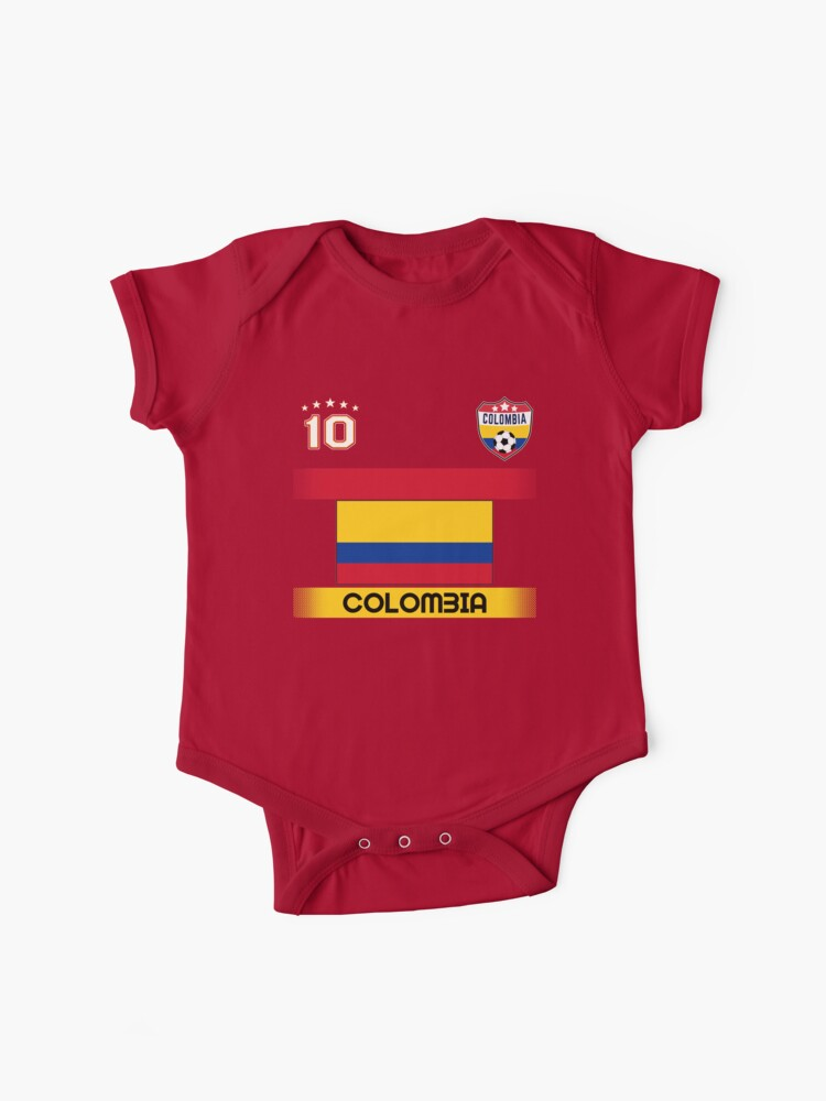 outlet store d870a e5429 Colombia Soccer Shirt with Flag, Shield and Number 10 | Baby One-Pieces