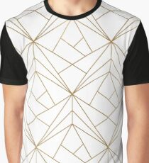Gold Geometric Pattern  Graphic T-Shirt