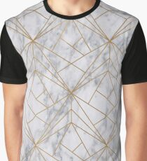 Marble Gold Geometric Pattern Graphic T-Shirt