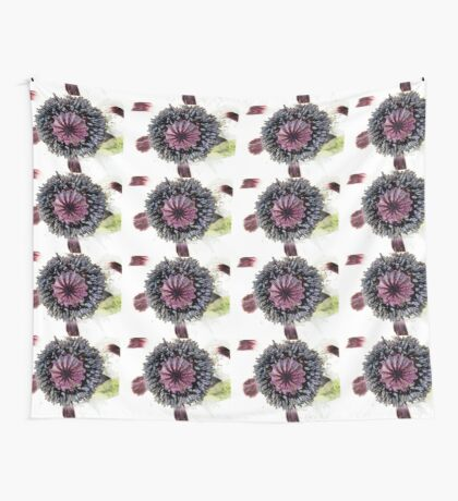 White Poppy Wall Tapestry