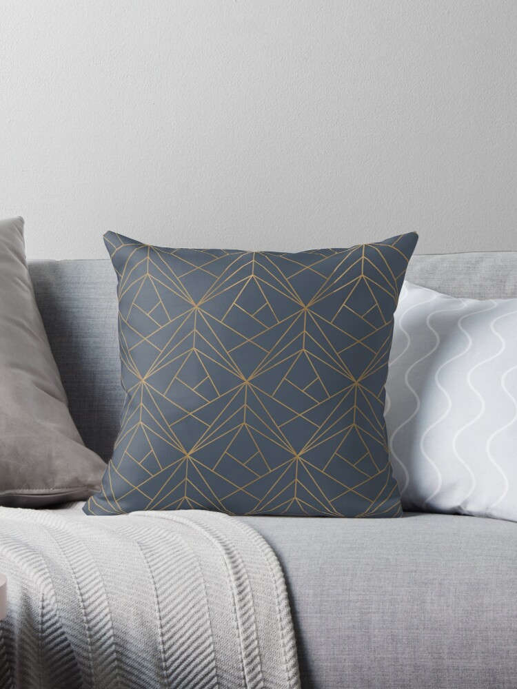 Blue Gold Geometric Pattern by koovox
