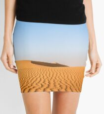 Desert dunes with blue sky Mini Skirt