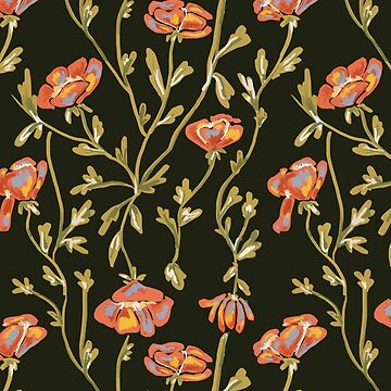 Dark Floral Pattern by chotnelle