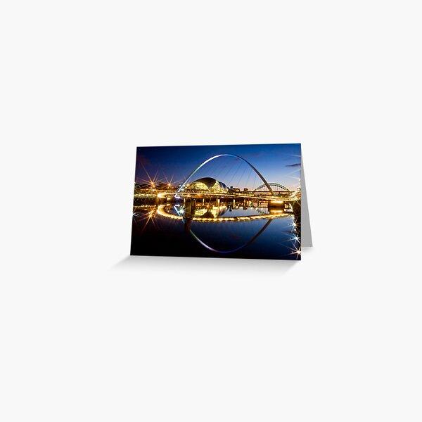 Millenium Bridge in the Evening Greeting Card