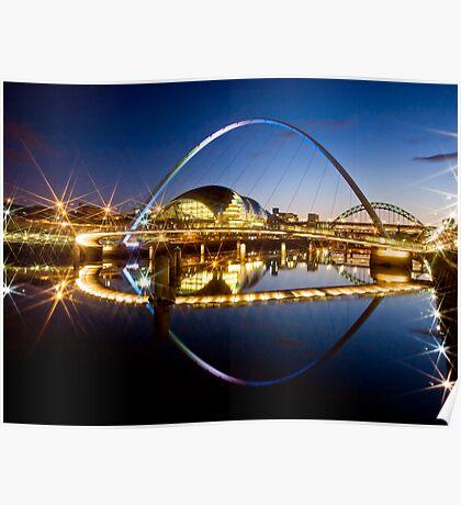 Millenium Bridge in the Evening Poster
