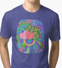 Hearts and Flowers Art Tri-blend T-Shirt