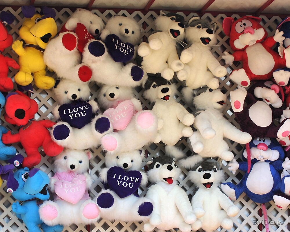 I Love You Plush Bears by SmilinEyes