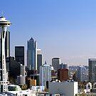Seattle Washington Skyline and Puget Sound by Jeff Hathaway