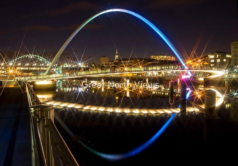 Millennium Bridge Newcastle by Great North Views