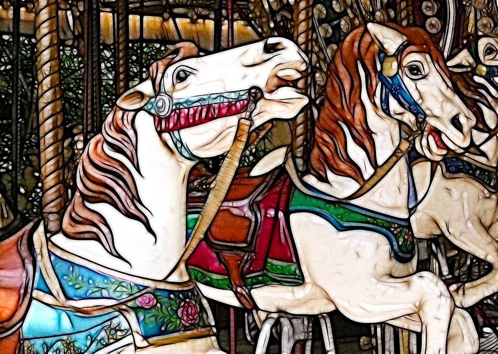 merry-go-round card by noffi