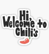 Welcome to Chili's Vine Print Sticker