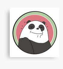 We Bare Bears - Panda Canvas Print