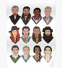 Black Sails Charaktere Poster