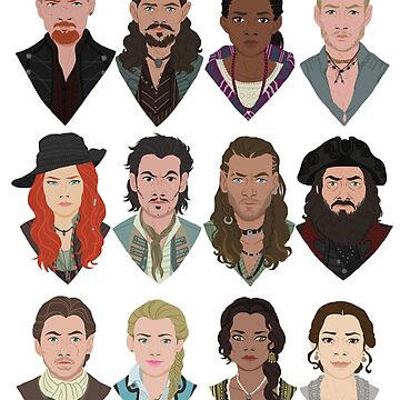 Black Sails characters by Jess-P