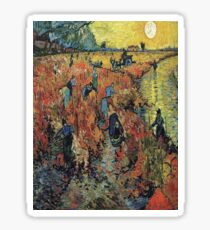 The Red Vineyard- Vincent van Gogh Sticker