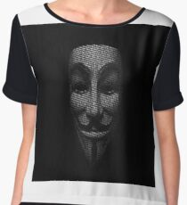 legion anonymous Chiffon Top