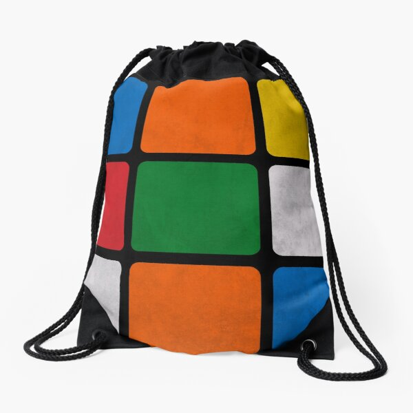Rubik's Cube Drawstring Bag