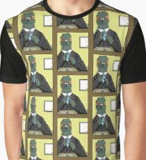Pigeon Getting Ready For Work Graphic T-Shirt