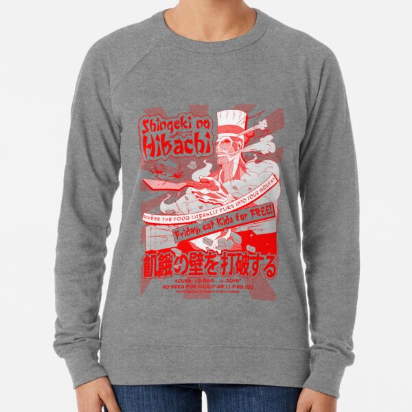 Shingeki no Hibachi (Attack on Hibachi) Lightweight Sweatshirt