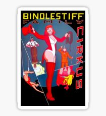 BINDLESTIFF : Vintage Family Cirkus Advertising Print Sticker