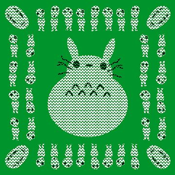 Totoro Snowman Christmas Sweater by tduffy