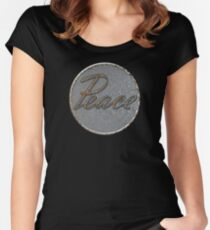 Steampunk Peace Women's Fitted Scoop T-Shirt